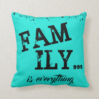 Family Is Everything Grunge Style - Throw Pillow