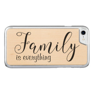 Family Is Everything Natural Wood Carved iPhone 8/7 Case