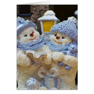 """""""Family is Forever"""" Snow Couple Christmas Card"""