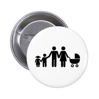 Family kids baby buggy 2 inch round button