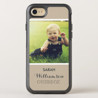 Family Kids Baby Picture with Name - Photo OtterBox Symmetry iPhone 8/7 Case