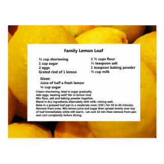 Family Lemon Loaf Postcard