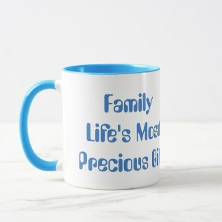 Family, Lifes Precious Gift, Blue Combo Coffee Mug