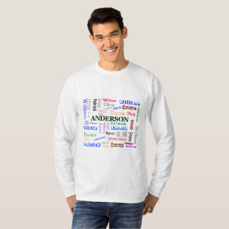 Family Lineage Word Cloud Name Collage T-Shirt