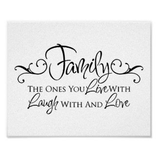 Family & Love Quote Poster