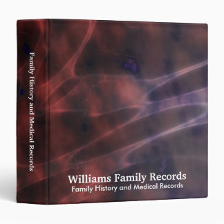 Family Medical History Abstract Cells Vinyl Binder