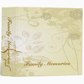 Family Memories Retro Tree 3 Ring Binder