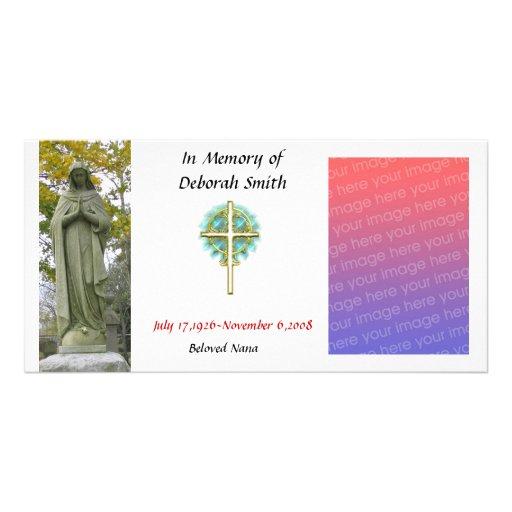 family memory card (christian) photo card