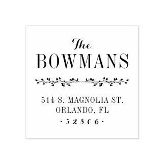 Family Monogram Address Stamp
