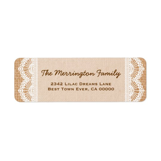 Family Monogram with Burlap and Lace V02