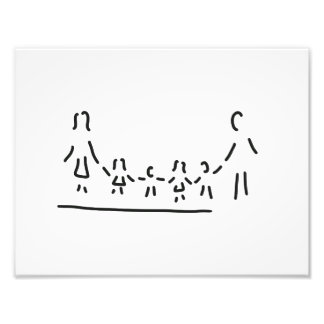 family mother father of four children photographic print