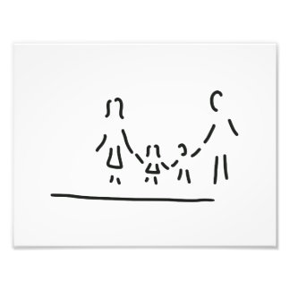family mother father of two children photo art