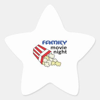 FAMILY MOVIE NIGHT STAR STICKER