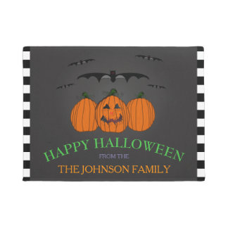 Family Name: Happy Halloween Door Mat