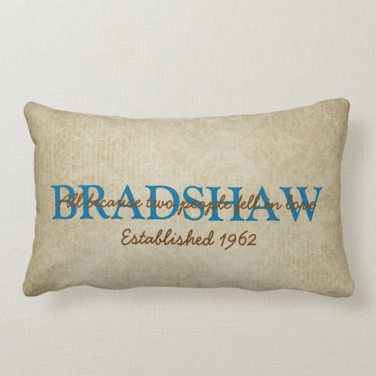 Family Name Lumbar Pillow