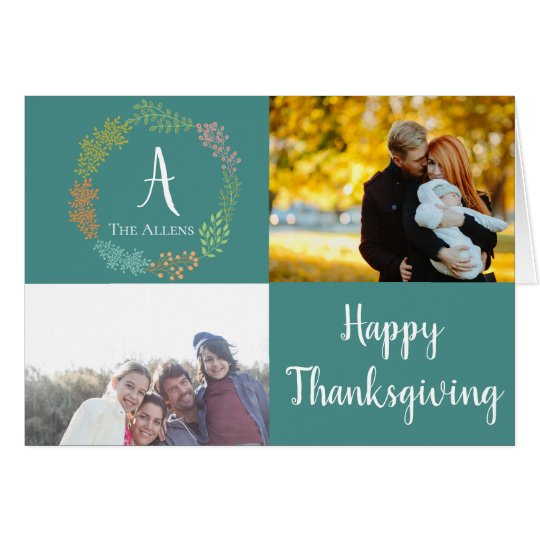 Family Name & Personal Photos | Thanksgiving Cards