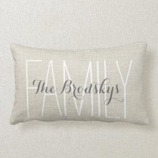 Family Name Rustic Chic Monogram Pillow