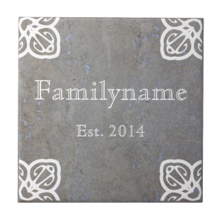 Family Name - Spanish White on Travertine Tile