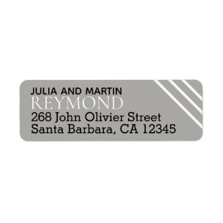 family name / surname with home address gray