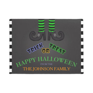 Family Name: Trick Or Treat Halloween Door Mat