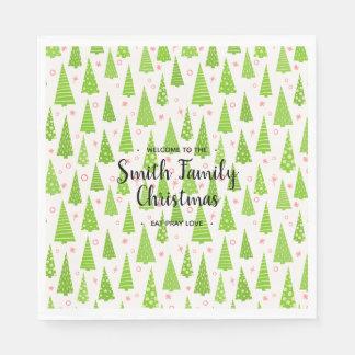 Family Named Christmas Disposable Napkin