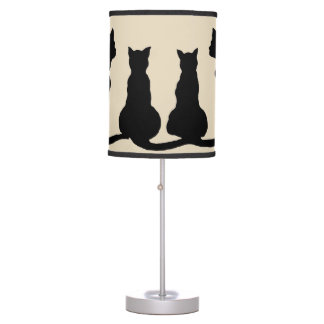 family of cats clip art lamp print