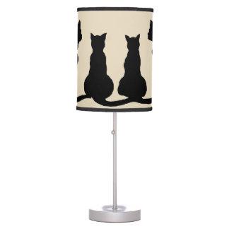 family of cats clip art lamp print