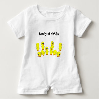 family of chicks baby romper