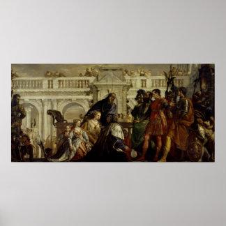 Family of Darius before Alexander the Great Poster