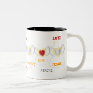 Family Of Loving Angels -Cup - Cus... - Customized Two-Tone Coffee Mug