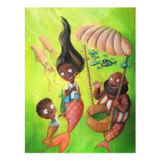 Family of Mermaids Postcard