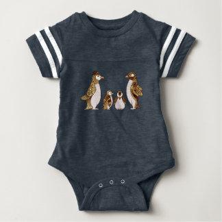 Family of Penguins Baby Bodysuit
