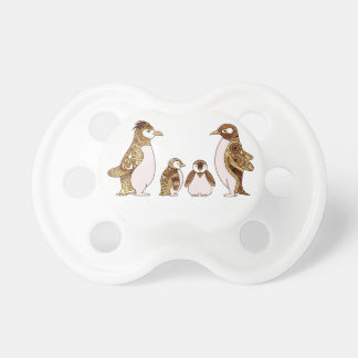 Family of Penguins Baby Pacifier