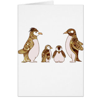 Family of Penguins Card