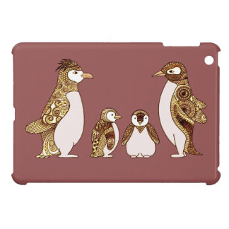 Family of Penguins Cover For The iPad Mini