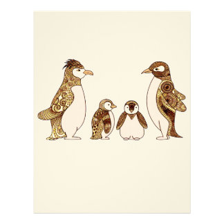 Family of Penguins Letterhead