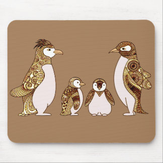 Family of Penguins Mouse Pad