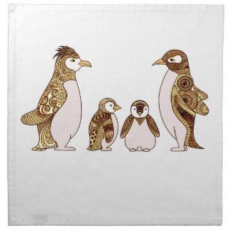 Family of Penguins Napkin