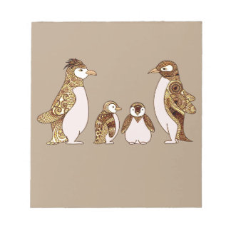 Family of Penguins Notepad
