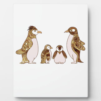 Family of Penguins Plaque