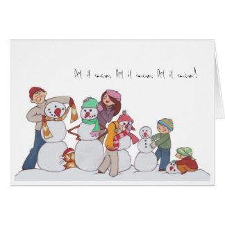 Family of Snowmen Notecard