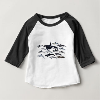 Family of the dolphins: orcas, dolphins, marsopas baby T-Shirt