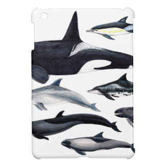Family of the dolphins: orcas, dolphins, marsopas iPad mini covers