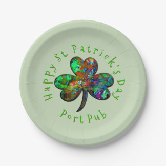 Family or Business Happy St. Patrick's Day Paper Plate