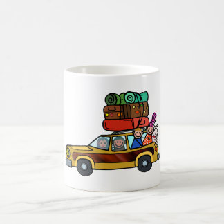 Family Outing - Station Wagon Road Trip Coffee Mug