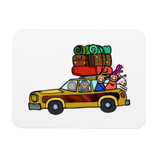 Family Outing - Station Wagon Road Trip Magnet