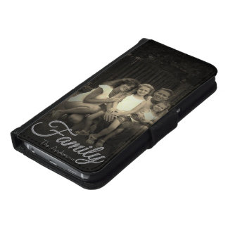 Family Overlay | Family Photo | Personalized Samsung Galaxy S6 Wallet Case