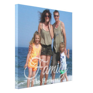 Family Overlay | Personalized Canvas Print