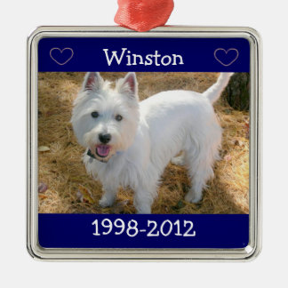 Family Pet Photo Christmas Tree Ornament