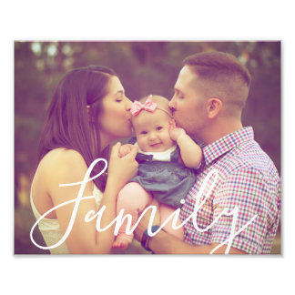 Family Photo 8x10 with Editable Text Option